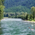 Tubing the Slocan River
